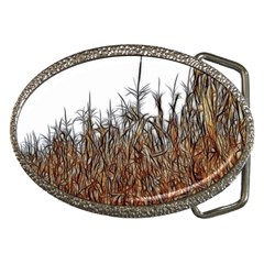 Abstract Of A Cornfield Belt Buckle (oval)