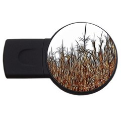 Abstract Of A Cornfield 2gb Usb Flash Drive (round)