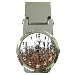 Abstract Of A Cornfield Money Clip With Watch