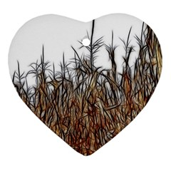 Abstract Of A Cornfield Heart Ornament (two Sides)