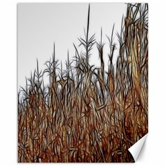 Abstract of a Cornfield Canvas 16  x 20  (Unframed)