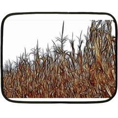 Abstract Of A Cornfield Mini Fleece Blanket (two Sided)