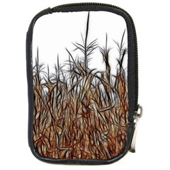 Abstract Of A Cornfield Compact Camera Leather Case