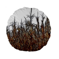Abstract Of A Cornfield 15  Premium Round Cushion