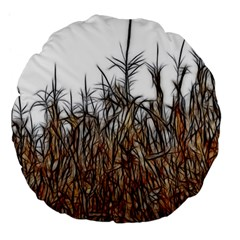 Abstract Of A Cornfield 18  Premium Round Cushion