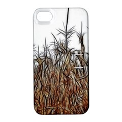 Abstract Of A Cornfield Apple Iphone 4/4s Hardshell Case With Stand