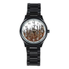 Abstract Of A Cornfield Sport Metal Watch (black)