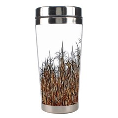 Abstract Of A Cornfield Stainless Steel Travel Tumbler
