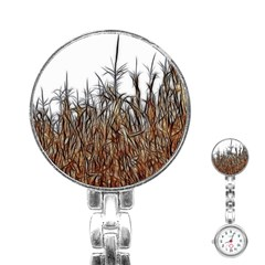 Abstract of a Cornfield Stainless Steel Nurses Watch