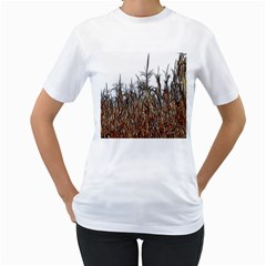 Abstract of a Cornfield Women s T-Shirt (White)