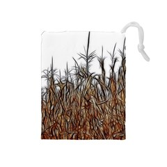 Abstract Of A Cornfield Drawstring Pouch (medium)