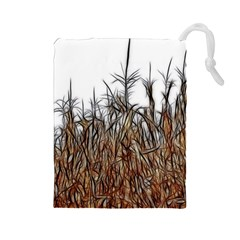 Abstract of a Cornfield Drawstring Pouch (Large)