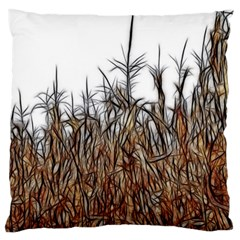 Abstract Of A Cornfield Large Flano Cushion Case (one Side)