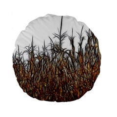 Abstract Of A Cornfield 15  Premium Flano Round Cushion