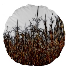Abstract Of A Cornfield 18  Premium Flano Round Cushion