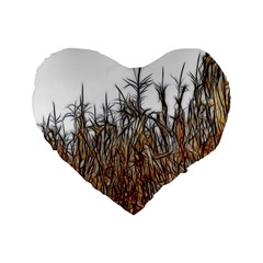 Abstract of a Cornfield 16  Premium Flano Heart Shape Cushion