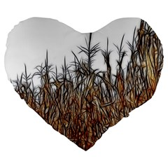 Abstract of a Cornfield 19  Premium Flano Heart Shape Cushion