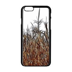 Abstract of a Cornfield Apple iPhone 6 Black Enamel Case