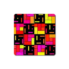 Squares And Rectangles Magnet (square)