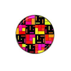 Squares And Rectangles Hat Clip Ball Marker (10 Pack)