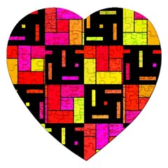 Squares And Rectangles Jigsaw Puzzle (heart)