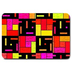 Squares And Rectangles Large Doormat