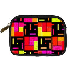 Squares And Rectangles Digital Camera Leather Case