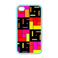 Squares And Rectangles Apple Iphone 4 Case (color)
