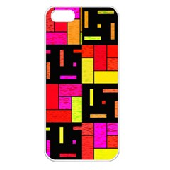 Squares And Rectangles Apple Iphone 5 Seamless Case (white)