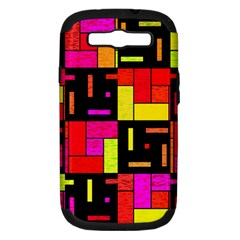 Squares And Rectangles Samsung Galaxy S Iii Hardshell Case (pc+silicone)