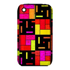 Squares and rectangles Apple iPhone 3G/3GS Hardshell Case (PC+Silicone)