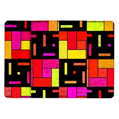 Squares and rectangles Samsung Galaxy Tab 10.1  P7500 Flip Case