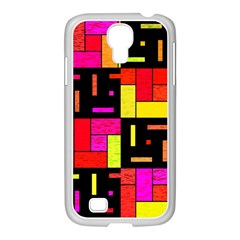 Squares and rectangles Samsung GALAXY S4 I9500/ I9505 Case (White)