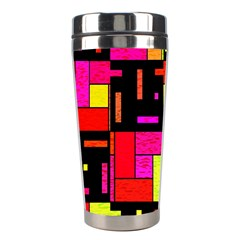 Squares And Rectangles Stainless Steel Travel Tumbler