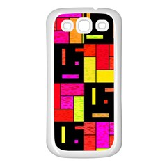 Squares And Rectangles Samsung Galaxy S3 Back Case (white)