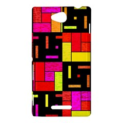 Squares and rectangles Sony Xperia C (S39H) Hardshell Case