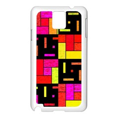 Squares and rectangles Samsung Galaxy Note 3 N9005 Case (White)