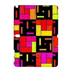 Squares and rectangles Samsung Galaxy Note 10.1 (P600) Hardshell Case