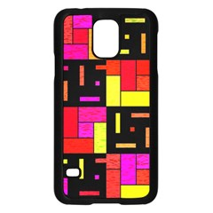 Squares And Rectangles Samsung Galaxy S5 Case (black)