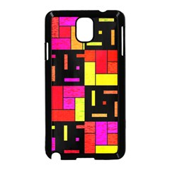 Squares and rectangles Samsung Galaxy Note 3 Neo Hardshell Case (Black)
