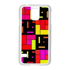 Squares and rectangles Samsung Galaxy S5 Case (White)