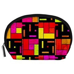 Squares and rectangles Accessory Pouch (Large)