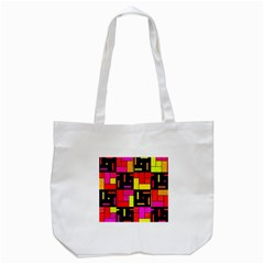 Squares And Rectangles Tote Bag (white)