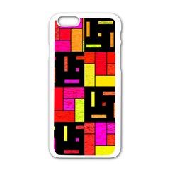 Squares and rectangles Apple iPhone 6 White Enamel Case