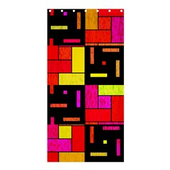 Squares And Rectangles Shower Curtain 36  X 72  (stall)