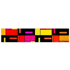 Squares And Rectangles Flano Scarf (small)