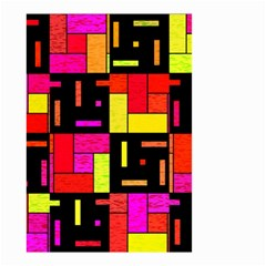 Squares and rectangles Small Garden Flag (Two Sides)