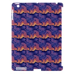 Pink Blue Waves Pattern Apple Ipad 3/4 Hardshell Case (compatible With Smart Cover)
