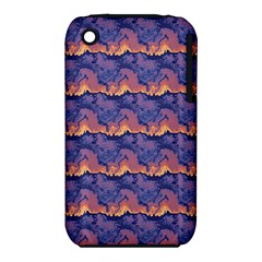 Pink blue waves pattern Apple iPhone 3G/3GS Hardshell Case (PC+Silicone)