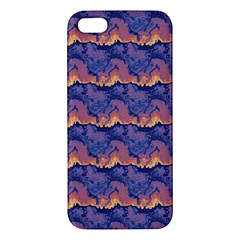 Pink Blue Waves Pattern Apple Iphone 5 Premium Hardshell Case
